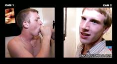 Straight guys sucked at gay gloryhole